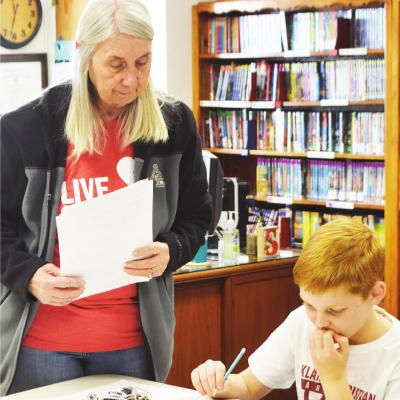 Students learn political process