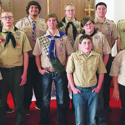 Troop 361 Scouts show support