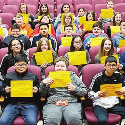 CMS 7th-graders earn Whirlwind Honor Roll