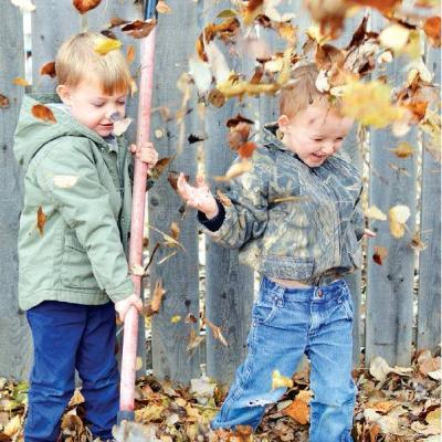 Preschoolers enjoy crisp weather