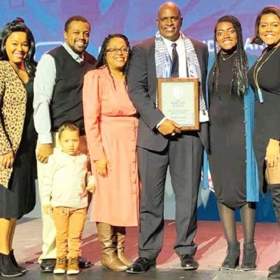 Jefferson accepts COTY award