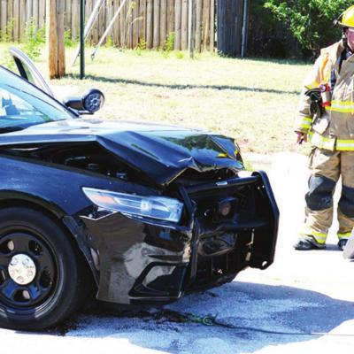 Officer involved in wreck