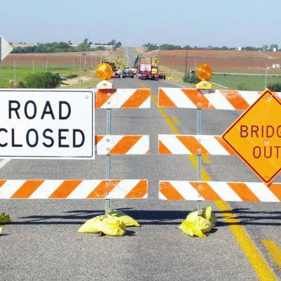 Bridge work shuts down Highway 73