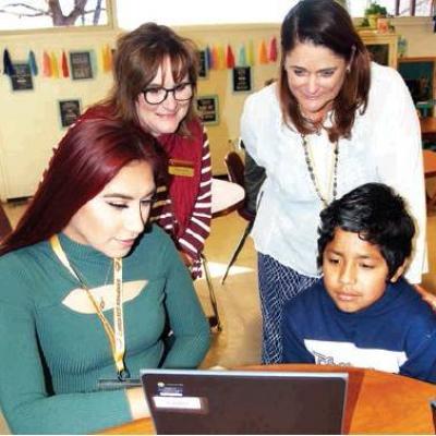 Spanish students sharing talents