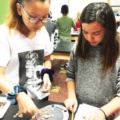 Students learn scientific measurement
