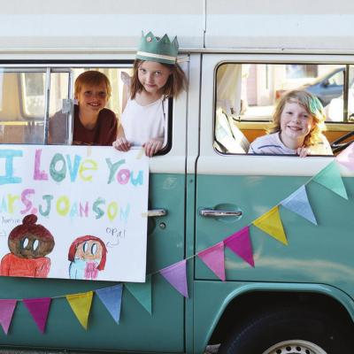 Students show love at parade