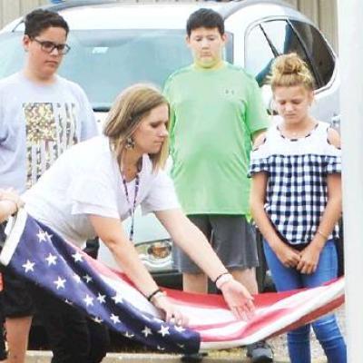 WOCS students do patriotic duty