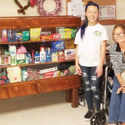Arapaho student collects dona