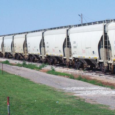 Thousands of empty rail cars stored on Farmrail tracks