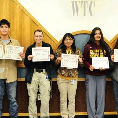 Outstanding students recognized at WTC