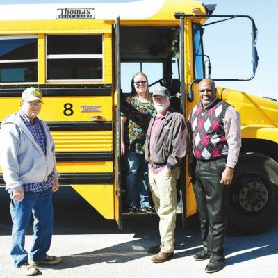 Bus takes ride of honor for Scarlett