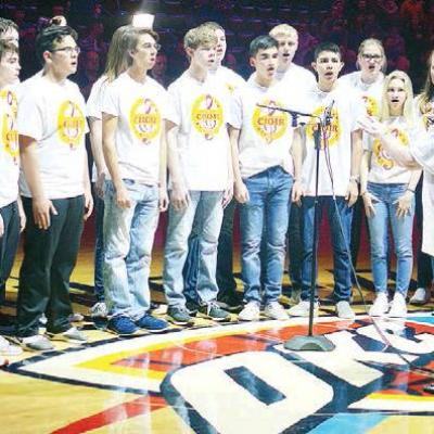 CHS vocalists perform at Thunder game