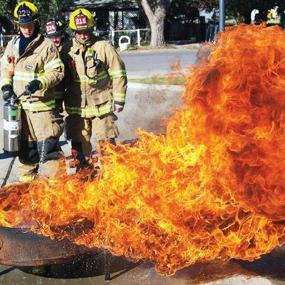 New technology extinguishes fire