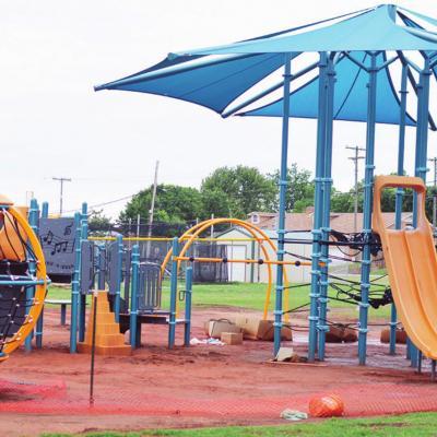 Playground nears finish