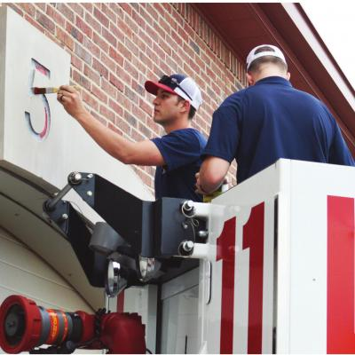 Clinton Fire adds fresh paint job