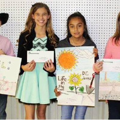 Local students' posters win prizes