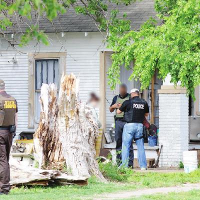 Federal, state, local law enforcement converge on two Clinton homes
