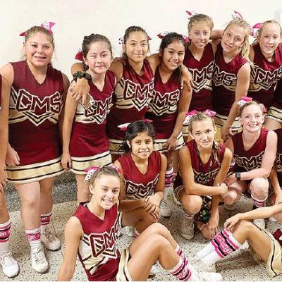 Clinton cheerleaders support the cause