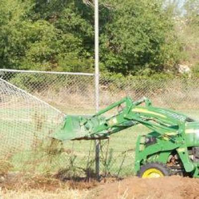 Ball field gets heave-ho