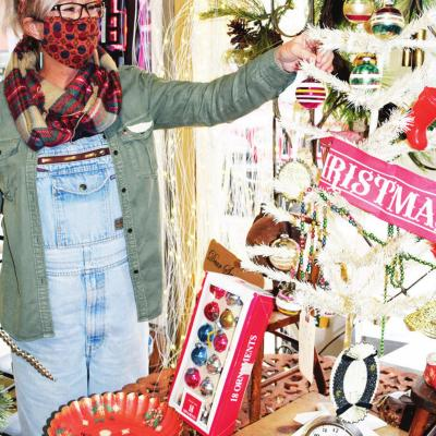 Christmas inside shops