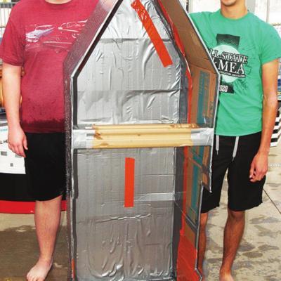 Winners named in cardboard boat race