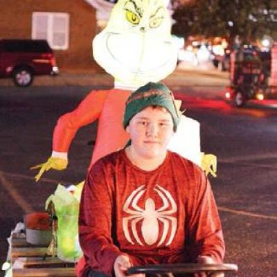 One-man parade float