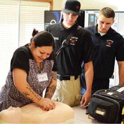 Fire fighters give community training