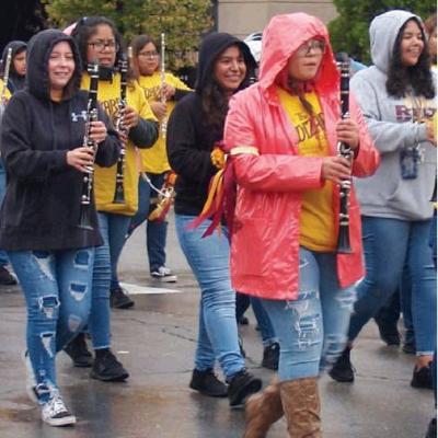 Rain can't dampen high spirits