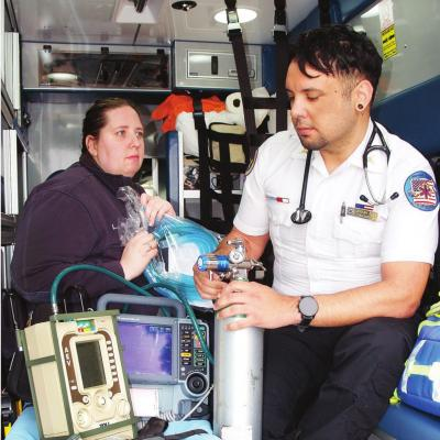 Portable ventilators ready if needed