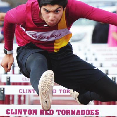 Clinton senior hurdler Eric Leon finished first in both the 110-meter and 300-meter hurdles. CDN | Collin Wieder