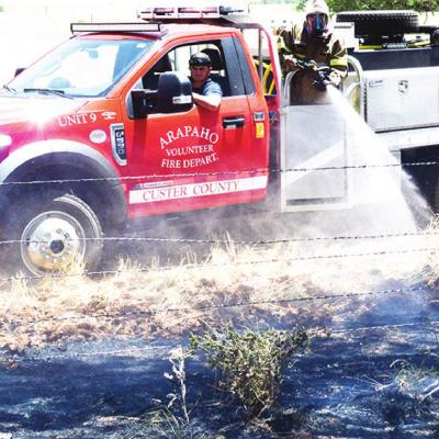 Grass fire contained in Arapaho