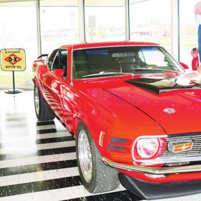 Museum rotates in new classic car