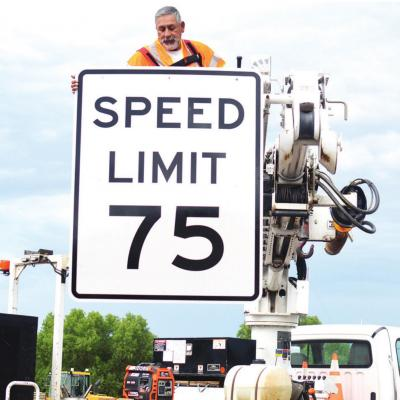 Speed increasing on parts of I-40