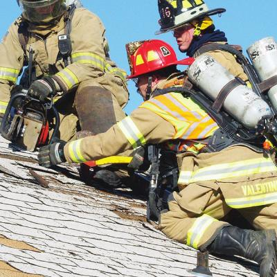 Fire fighters get safety lessons