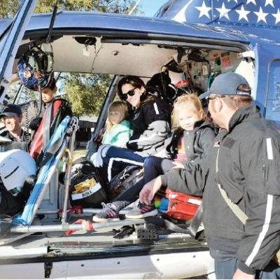 Kids, grownups explore helicopter