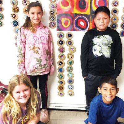 Students combine science, art