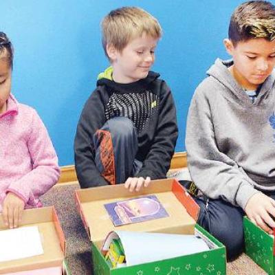 Donated Christmas gifts at WOCS