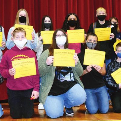 Seventh-graders make Principal's Honor Roll