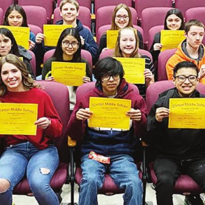 Eighth-grade students recognized at Honor Roll Breakfast