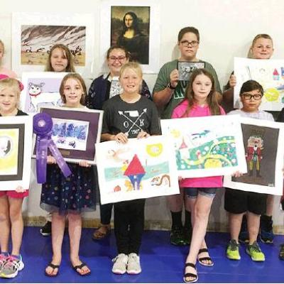 WOCS students' art wins at state competition
