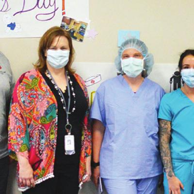 Clinton nurses treated to lunch on special day