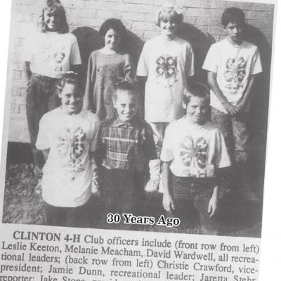 CLINTON'S HISTORY 10, 20 AND 30 YEARS AGO