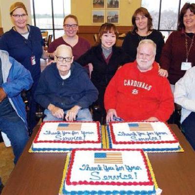 Clinton veterans receive sweet visit