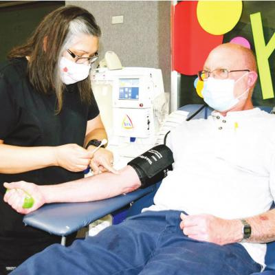 Blood drive donor