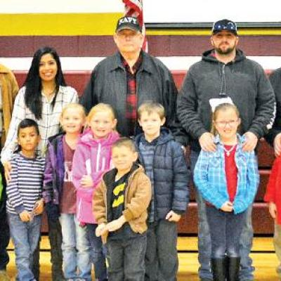 Veteran family members honored at Nance Elementary assembly