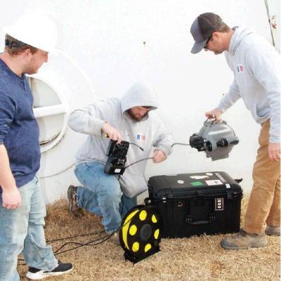 2-million-gallon tank undergoing inspection