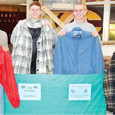 Clinton High School Key Club coat drive underway