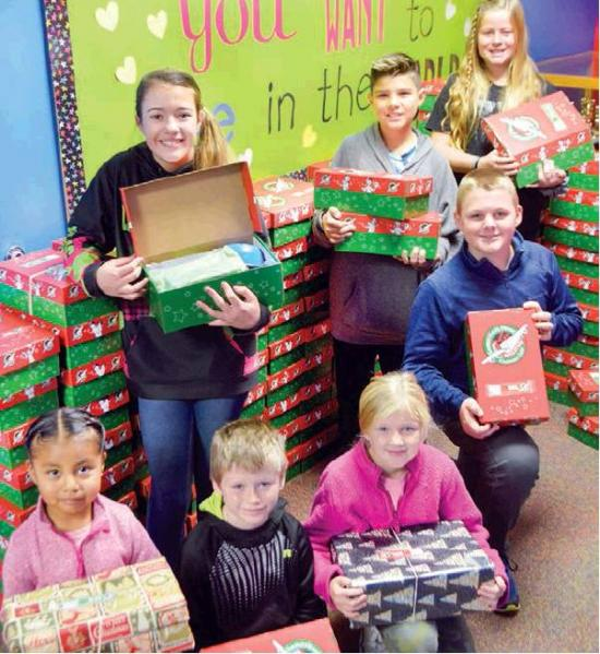 Christmas shoe boxes due Friday