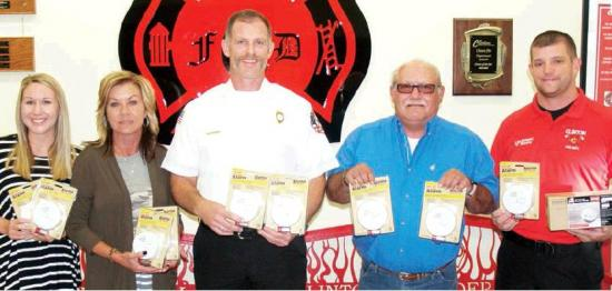 Clinton Fire Department has smoke alarms available