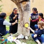 Lifeless tree becomes work of art